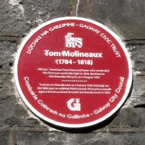 (Piece of Sian trivia - Galway was the home of freed slave and boxer Tom Molineaux - a legend for many reasons - and I found his plaque yesterday! )
